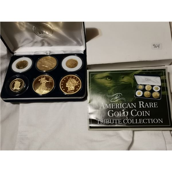 Six coin set, tribute American rare coins