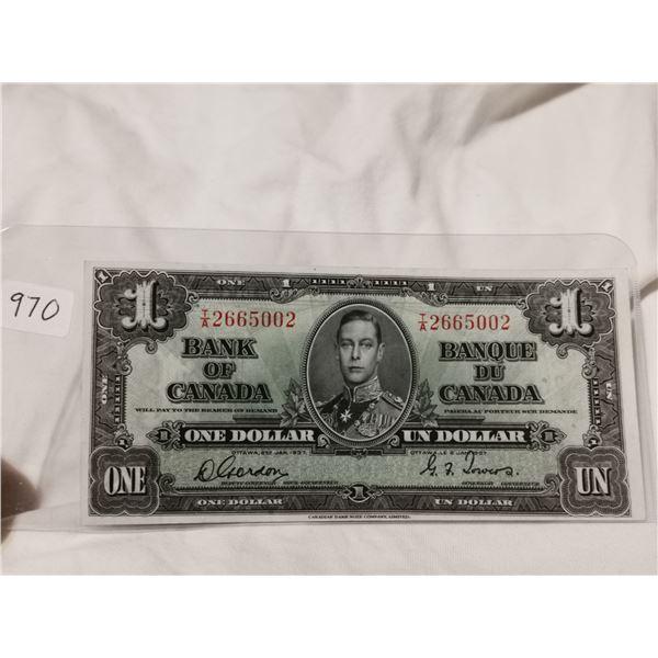 1937 High grade $1.00 bill