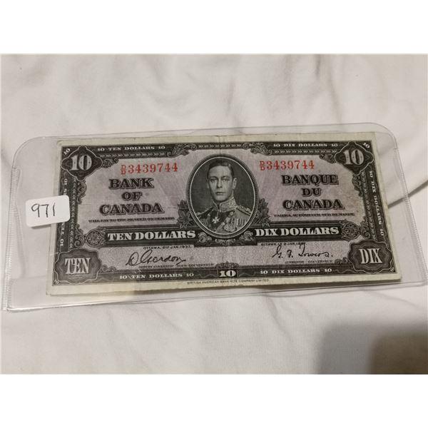 1937 $10.00 bill, Gordon