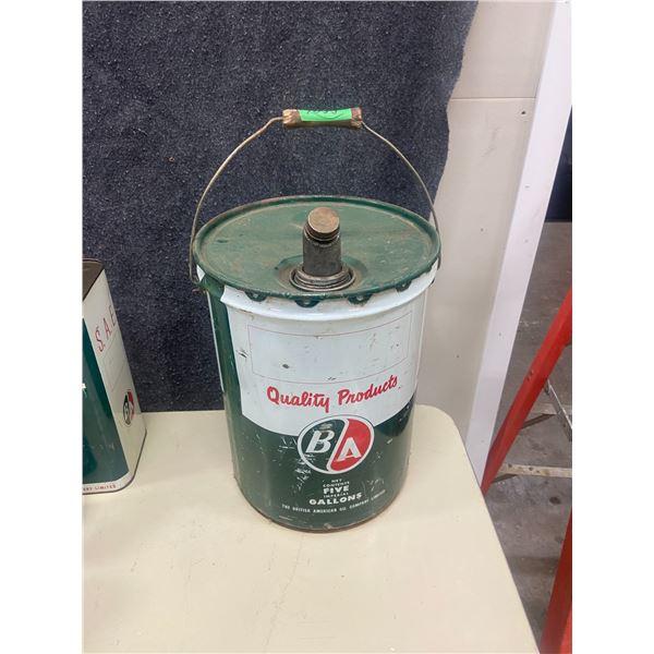 B/A 5 gallon oil pail