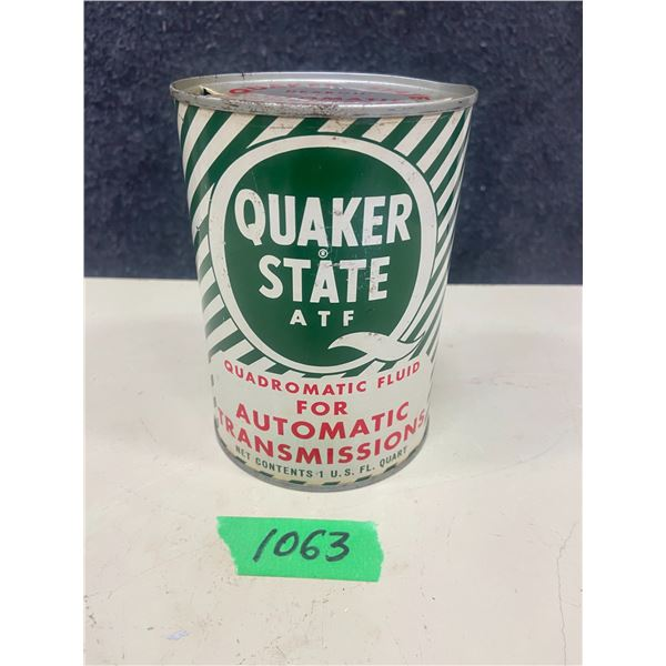 Quaker state ATF tin - 1 quart