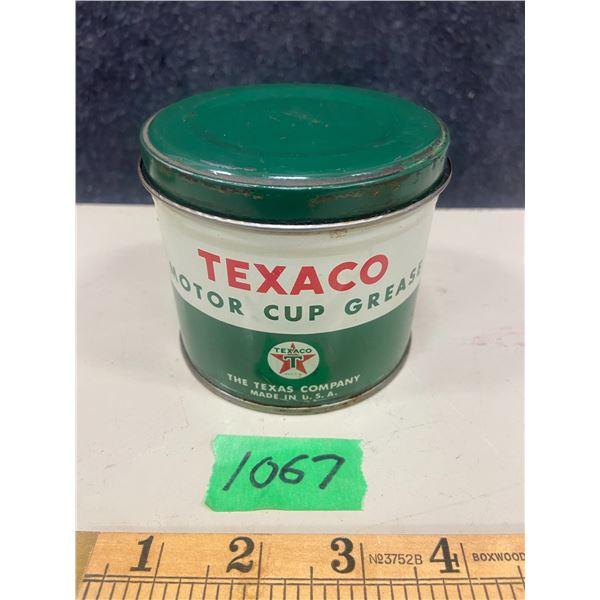 Texaco motor cup grease 1 lb tin excellent condition