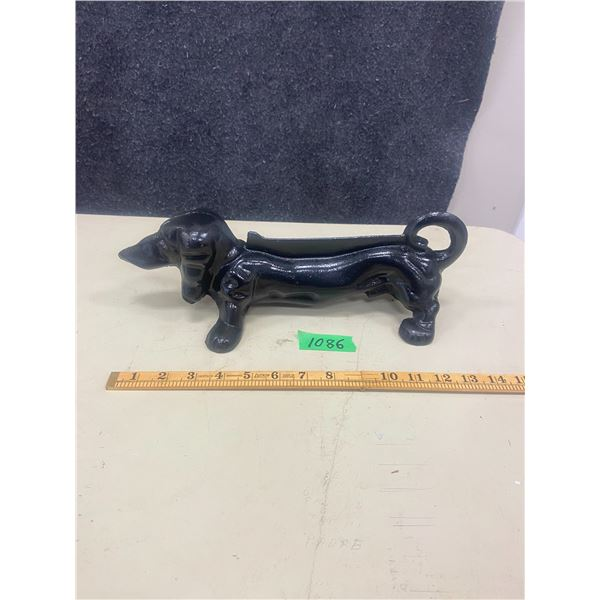 "Cast iron dog boot scraper 14"" long"
