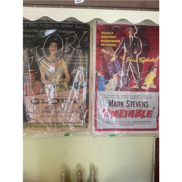 """2 vintage movie posters 41"""" X 26"""" one has some tearing"""