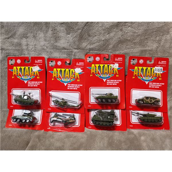 8 piece attack force army vehicles, lot 1