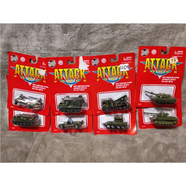 8 piece attack force army vehicles, lot 2