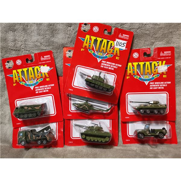 8 piece attack force army vehicles, lot 3