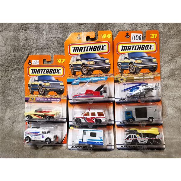 8 piece matchbox vehicles, lot 1