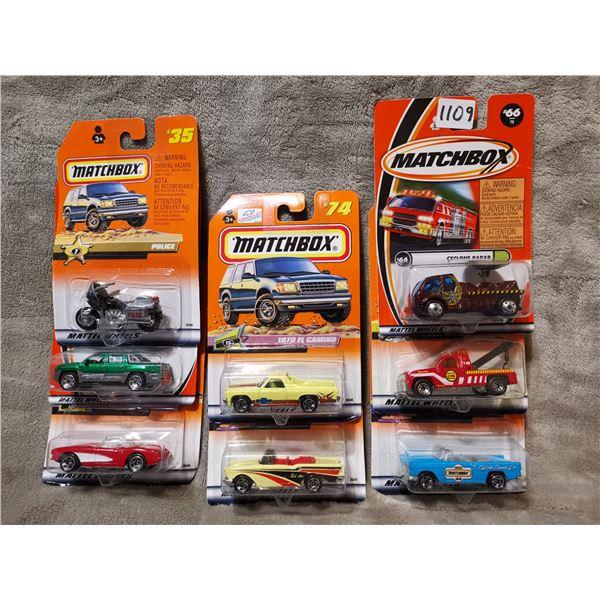 8 piece matchbox vehicles, lot 2