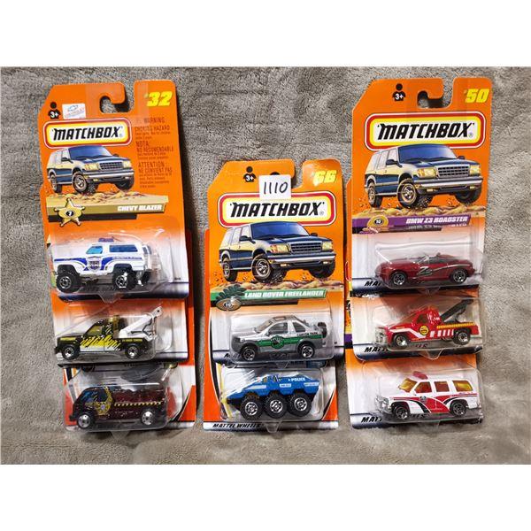 8 piece matchbox vehicles, lot 3