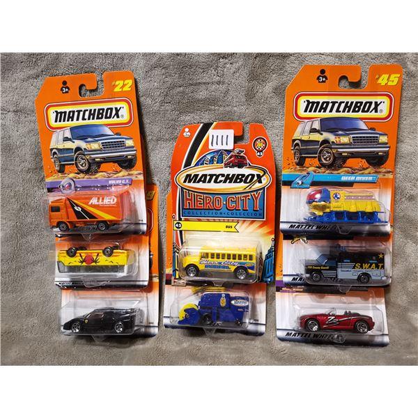 8 piece matchbox vehicles, lot 4