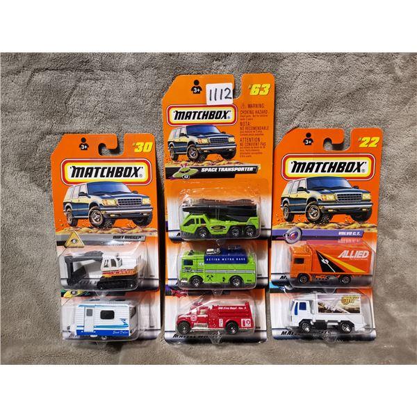 8 piece matchbox vehicles, lot 5