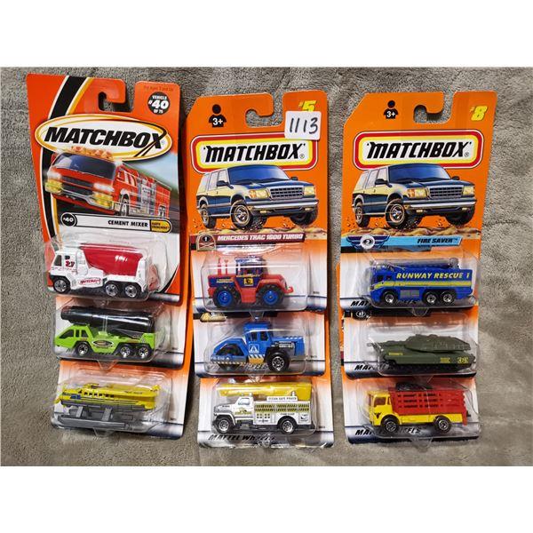 8 piece matchbox vehicles, lot 6