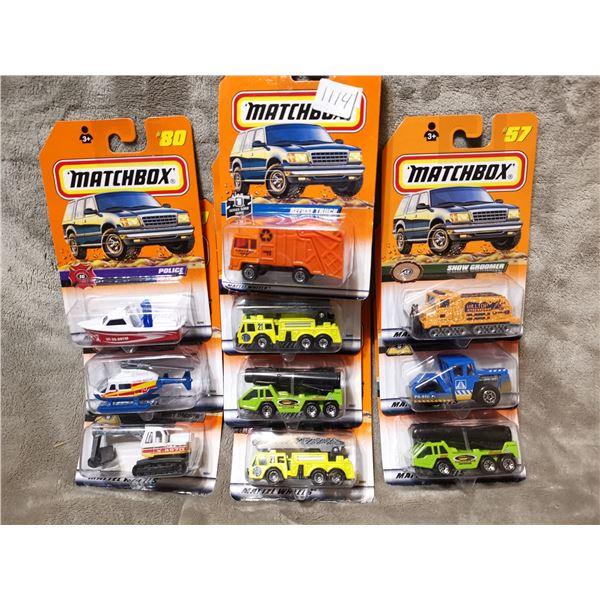 8 piece matchbox vehicles, lot 7