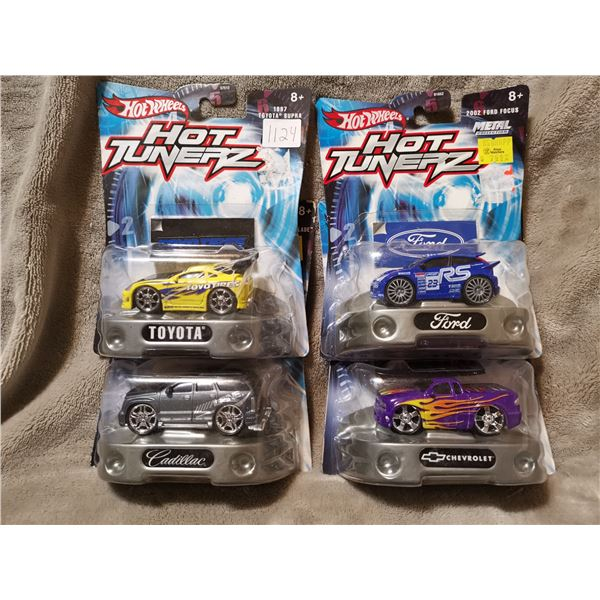 4 Hot Wheels Hot Tunerz cars, lot 2