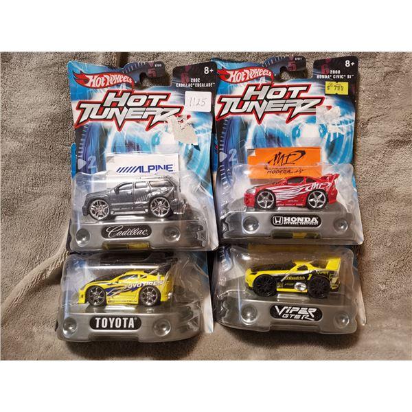 4 Hot Wheels Hot Tunerz cars, lot 3