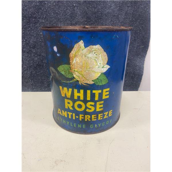 White Rose anti freeze tin, 1 gallon