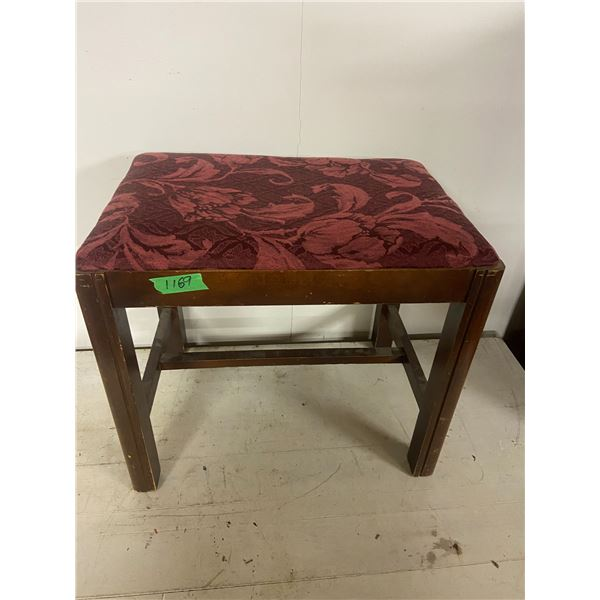 "vanity stool bench upholstered 20"" X 14"""