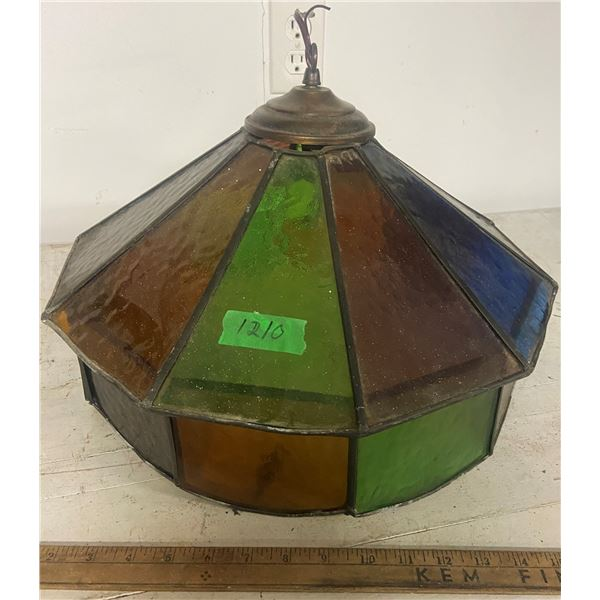 """Stainglass hanging lamp shade 18"""" across no cracks - real glass Stain Glass"""