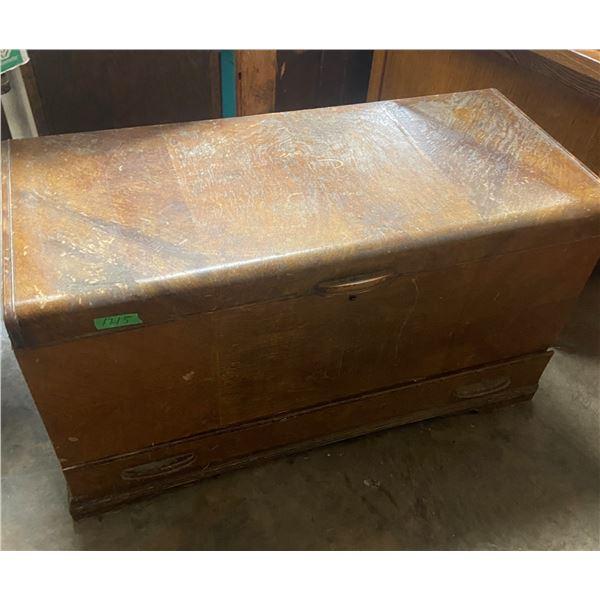Cedar chest inside great but needs refinishing outside