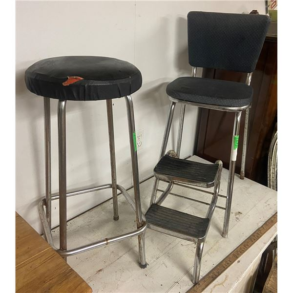 Step stool chair and stool