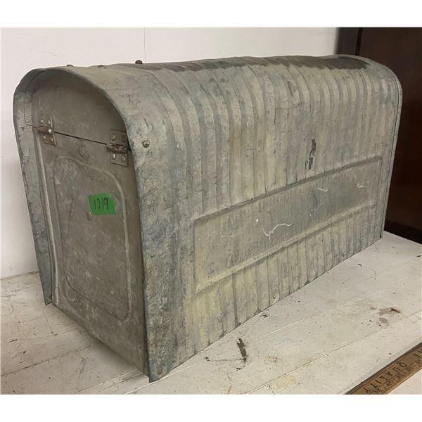 "vintage rural metal mail box 24"" long"