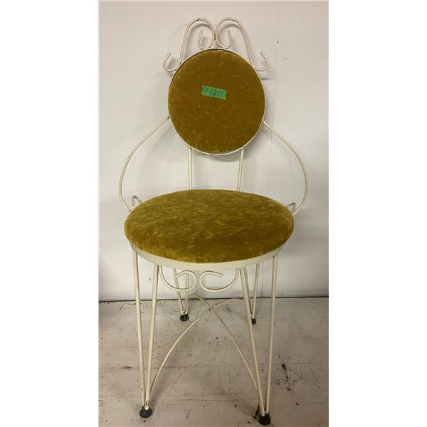 art deco metal vanity chair