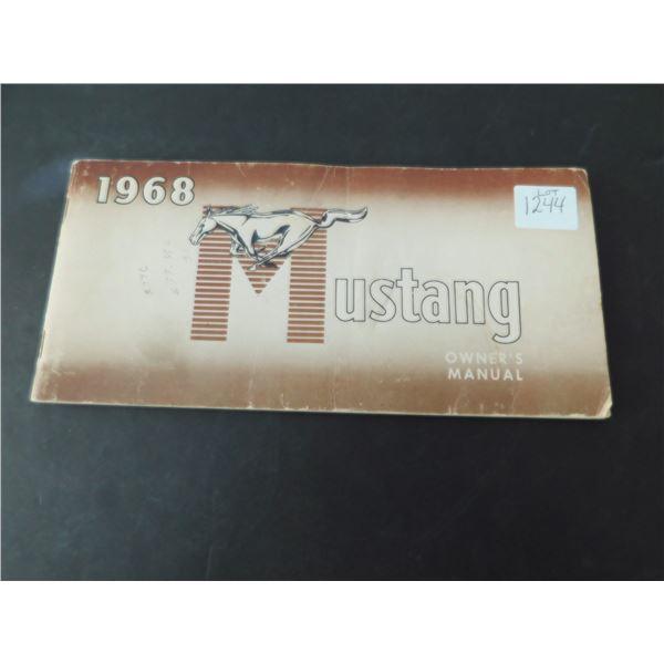 1968 MUSTANG OWNER'S MANUAL