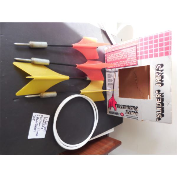 REGENT LAWN DARTS SET (MISSING ONE HOOP) OFFICIAL SIZE & WEIGHT IN BOX
