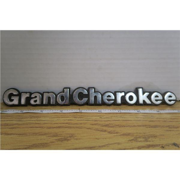 "Jeep ""Grand Cherokee"" Emblem"