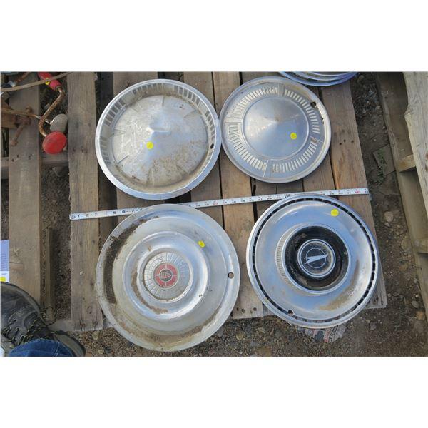 4 Assorted Hubcaps