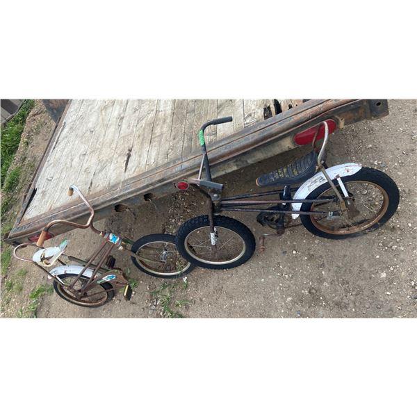 2 vintage kids Banana seat bicycles