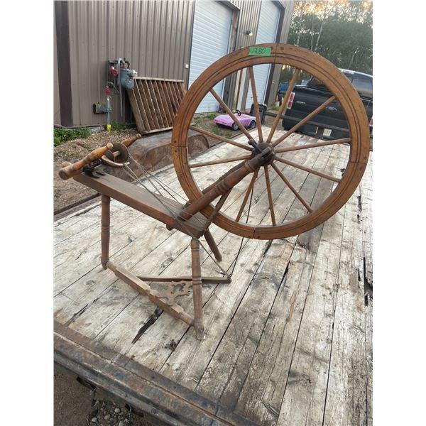 "large spinning wheel complete 28"" Wheel - Nice"