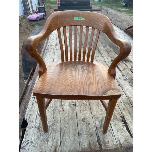 Solid Oak office chair- very sturdy
