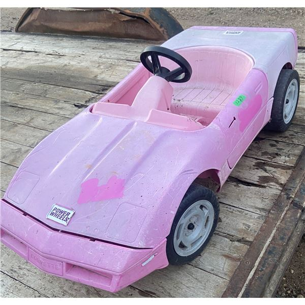 childs battery powered corvette - works just use regular trickle charger Pink auto