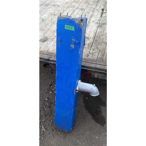 "Primitive wooden well pump - no handle - 40"" tall"
