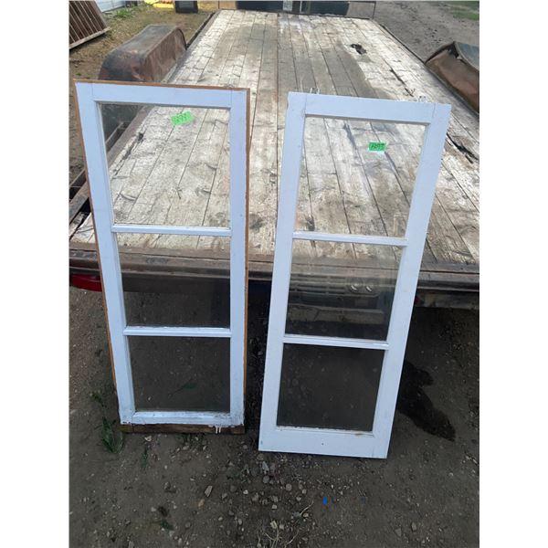 """2 x 3 pane wooden windows 18""""x46"""""""