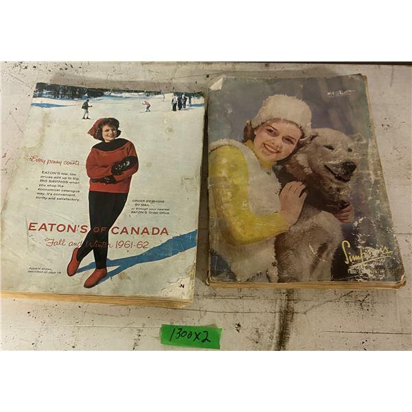 1941 Sears + 1961-62 Eatons Catalogue Cataloges vintage