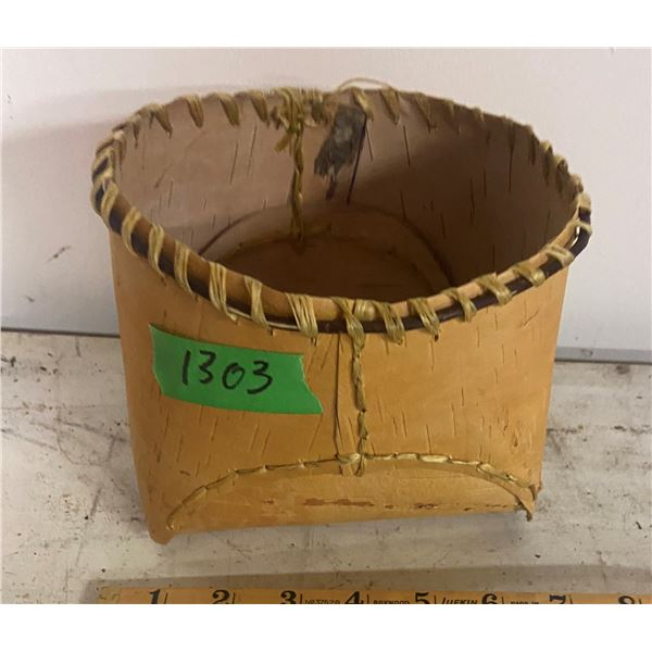 Birch Bark basket hand crafted - traditional hand made art