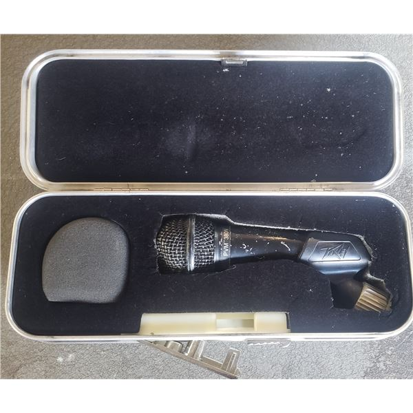 Peavey Microphone in custome case. PVM-380N commercial heavy duty  sound system parts