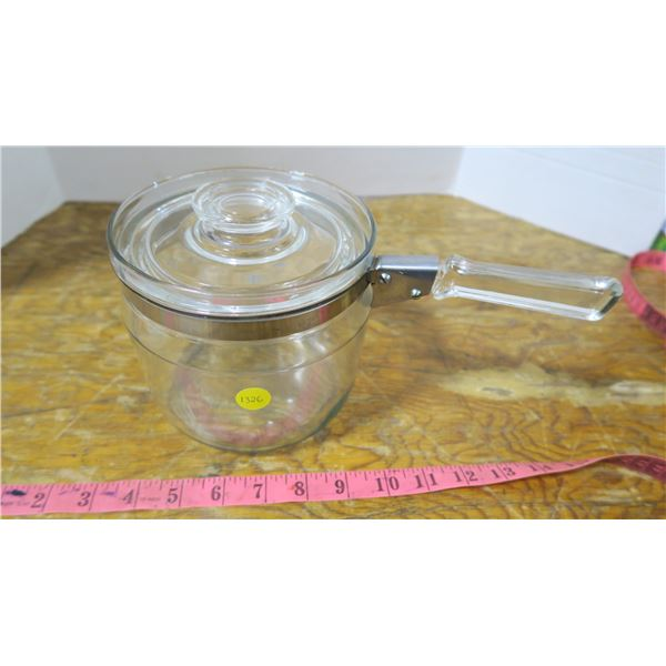 Pyrex Pot (Glass) with Lid and Handle