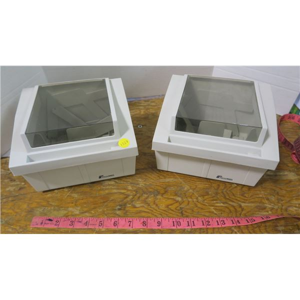 2 Computer Disk Storage Boxes
