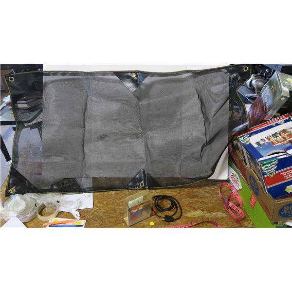 Vehicle Engine Block Heater Electrical Cord and Vehicle Front Grille Bug Screen (approx. 4'x2')