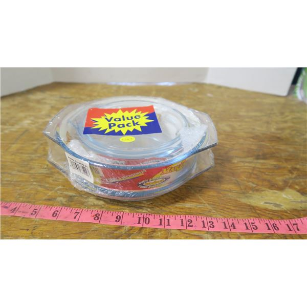 Glass Bowls with Lids Pack
