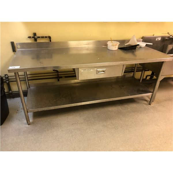 8' SS COUNTER WITH DRAWER