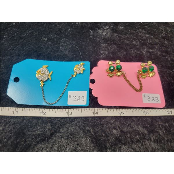 Scatter pins, fish and birds, cute