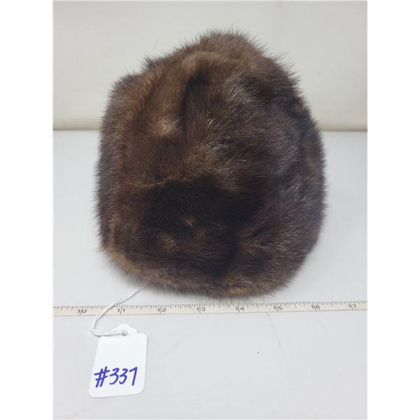 Ladies fur hat, mink by Pierre Balmain, Paris
