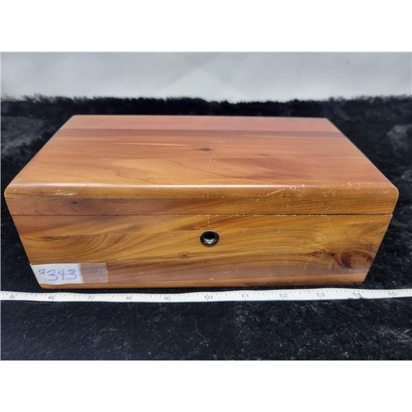 Salesman sample, Lane's Love Chest and key, Knechtel Furniture Ltd.