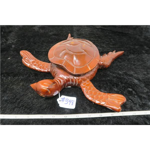 Mythical wooden turtle storage box or wall decor