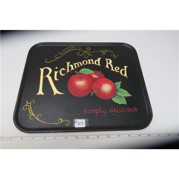 Richmond Red Serving tray